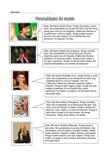 New GCSE Spanish AQA - Theme 1-  Topic 1: Me, my family and friends - Lesson 2 Full