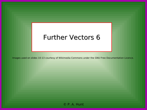 Further Vectors 6