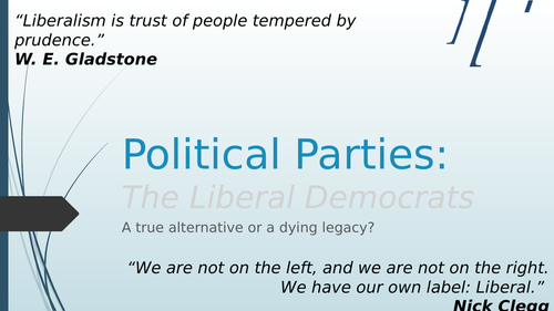 Political Parties - The Liberal Democrats (Edexcel specification)
