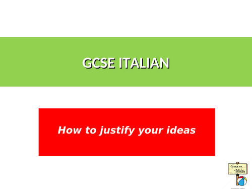 NEW ITALIAN GCSE WRITING AND SPEAKING PREPARATION RESOURCES AND REVISION