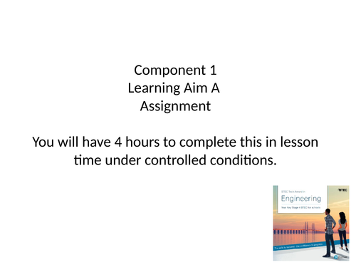 Engineering Aim A Assessment lesson