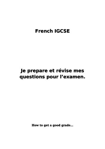 iGCSE - GCSE - speaking questions - Education & Employment - help - grammar - grade 9 - A*