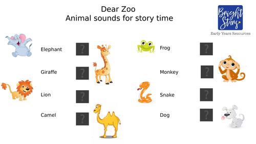 Dear Zoo teaching pack