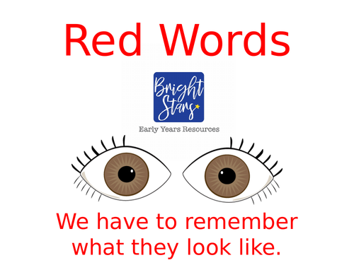 Red Words/High Frequency/Sight words PowerPoint