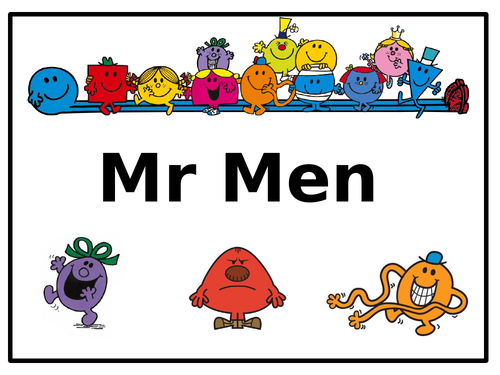 Mr. Men PowerPoint - Story Logs and Storyboards