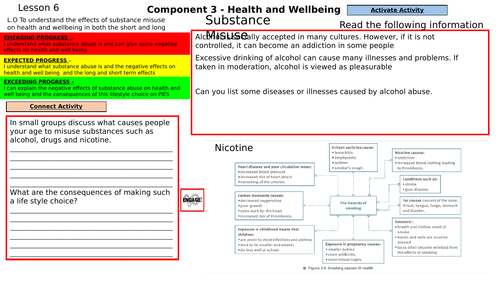 substance misuse lesson for component 3 BTEC H&SC