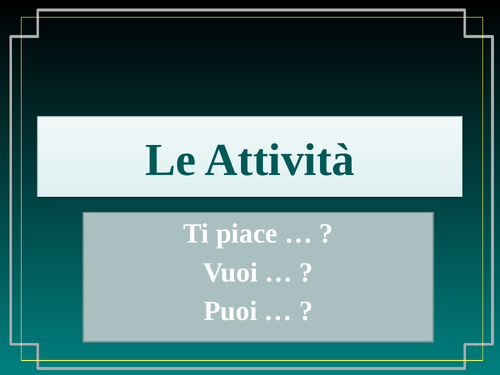 ARE Verbs in Italian Verbi ARE Infinitives