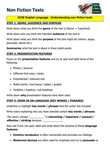 GCSE English Language    Understanding Non Fiction Texts