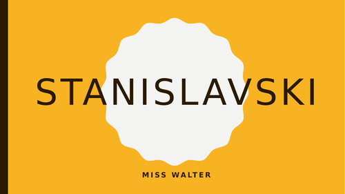 An introduction to Stanislavski