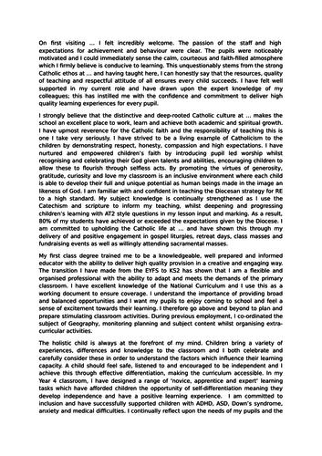 Nqt personal statement