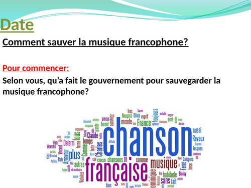 Comment sauver la musique francophone?