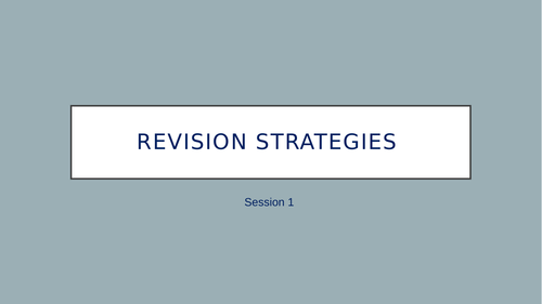 Study Skills Revision