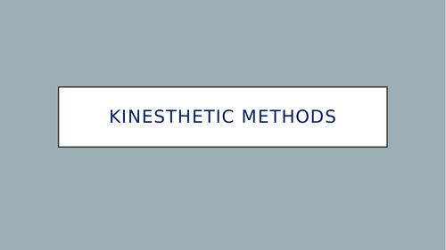 study skills kinaesthetic
