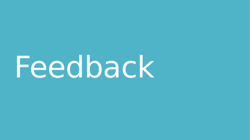 A level OCR 2016 Skill Acquisition Feedback and Effective Feedback