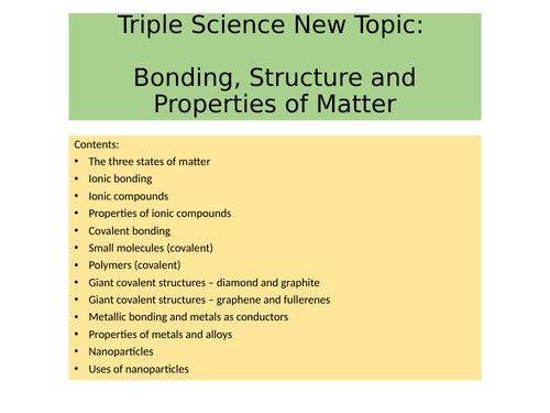 AQA Chemistry C2 - Bonding: States of Matter