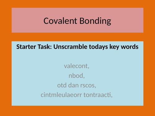 AQA Chemistry C2 - Bonding: Covalent Bonding