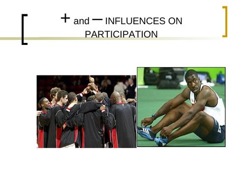 Factors affecting participation