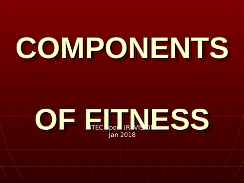 Components of fitness in sport