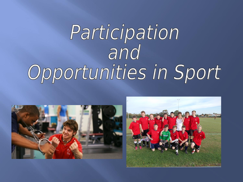Participation pyramid/stages in sport