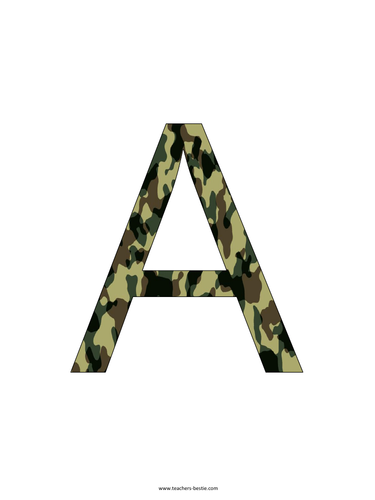 Army color Letters and Numbers - Ideal for Veterans day displays