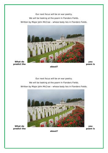 Flanders Field - rememberance day poetry