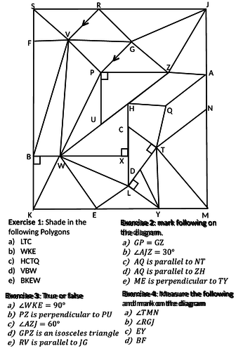 Geometry notaion