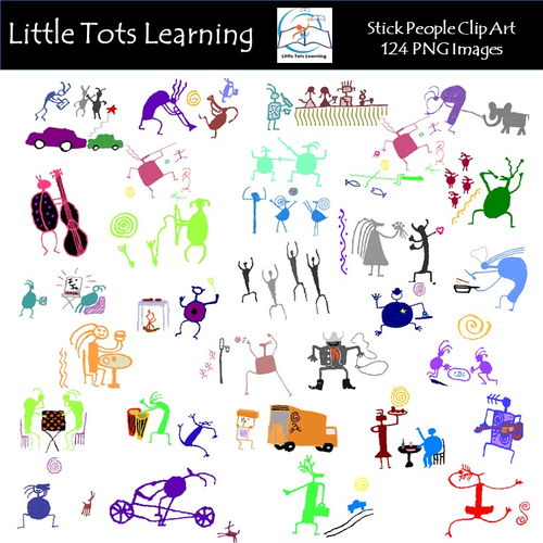 Stick People Clip Art - Stick Figure Clip Art - Stick People Action