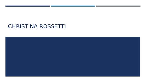 Christina Rossetti OCR poetry