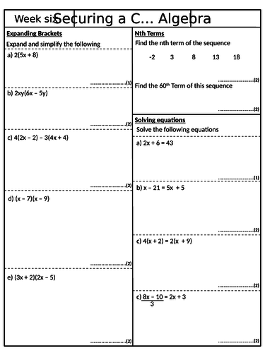Securing a 4 - Pack 6 - GCSE Mathematics Revision