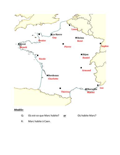 Où habite French Partner Speaking activity