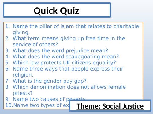 AQA RE - Exploitation of the Poor Lesson - Social Justice Unit
