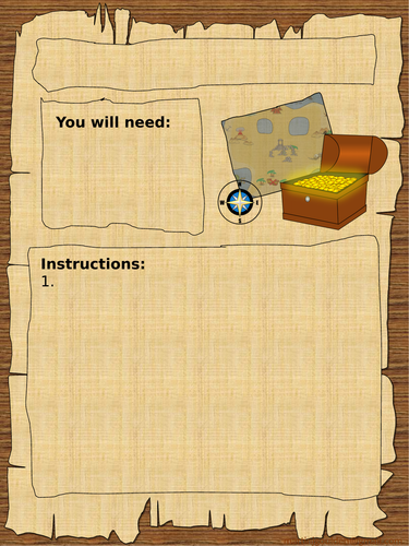 Instructions - Pirates/Adventurers - How to find treasure/land. Video hook and writing templates.