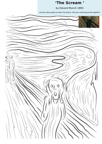 Summer Art Term Worksheets Famous Portraits Picasso , Van Gogh, Mona Lisa, The Scream, & Archimboldo