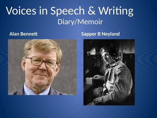 A Level English Lang & Lit Comparison Alan Bennett and sapper B. Neyland