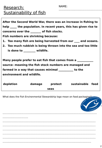Sustainability of fish research booklet