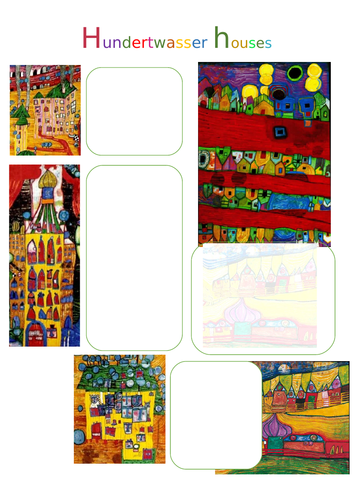 Hundertwasser Ceramic pot planning pages inspired by Houses