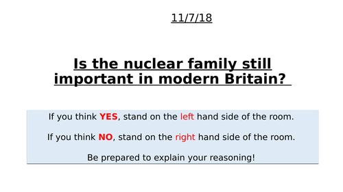 Is the nuclear family important in modern Britain