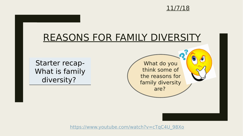 Reasons for family diversity