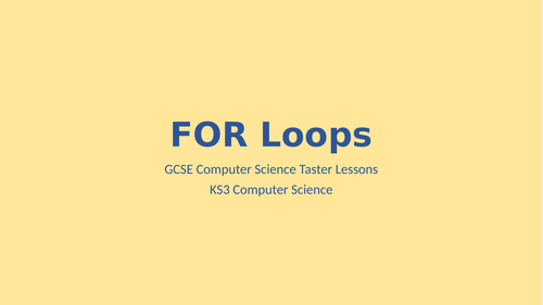 Python Programming - FOR loops (iteration)