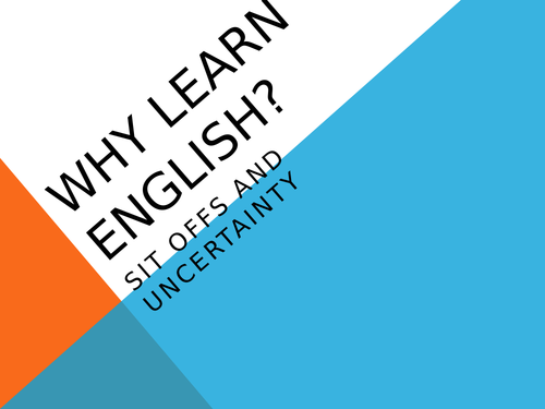 Citizenship/PHSE/English starter lesson - persuading students on the importance of English