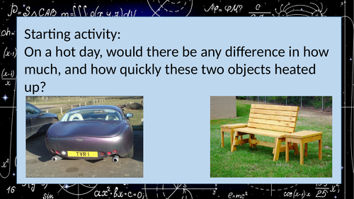 Specific Heat Capacity theory (ideal for non specialists) prior to required practical AQA GCSE