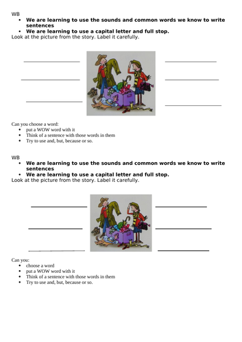 Letters and sounds ay sound phonics - week of work and presentation so no printing essential
