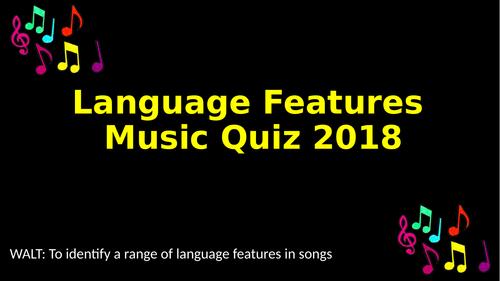 Language Features in Song Lyrics 2017-2018