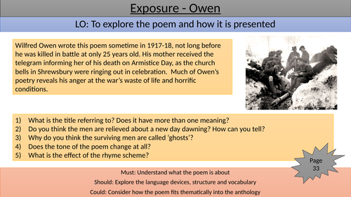 Exposure teaching/revision slide