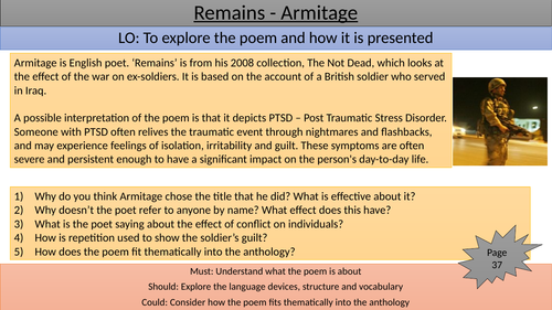 Remains teaching/revision slide