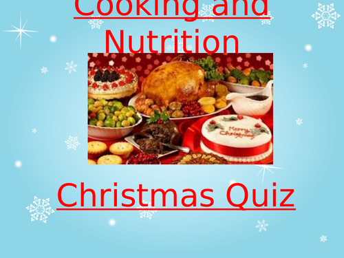 Food christmas quiz on powerpoint