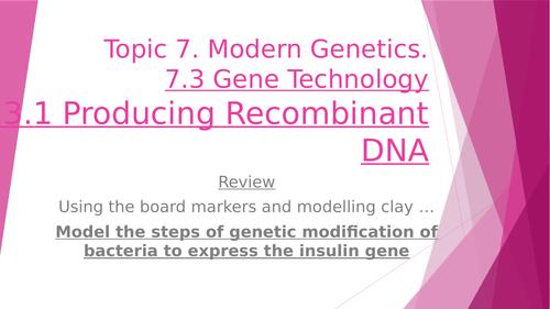 Genetic Modification & Recombinant DNA