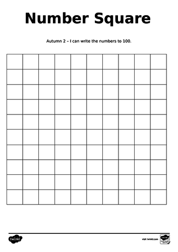 I can write my numbers to 100 assessment