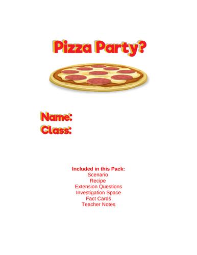 pizza party maths investigation ks2