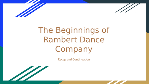 Rambert Dance Company - Changes of 1966 and Artistic Directors Overview A-Level Dance
